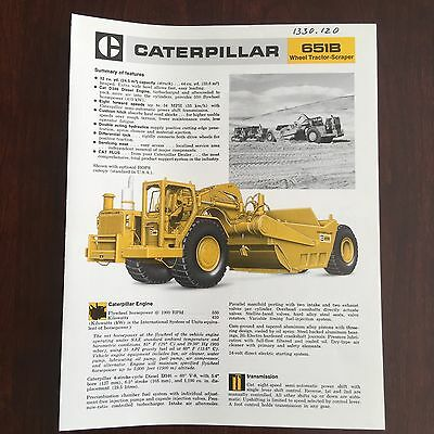 CAT CATERPILLAR 651B Wheel Tractor Scraper  - Equipment Brochure Specs 1977