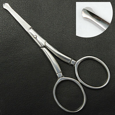 NOSE FACIAL MUSTACHE EAR BABY TRIMMING SCISSORS ROUND TIP 9cm  3.5 inches
