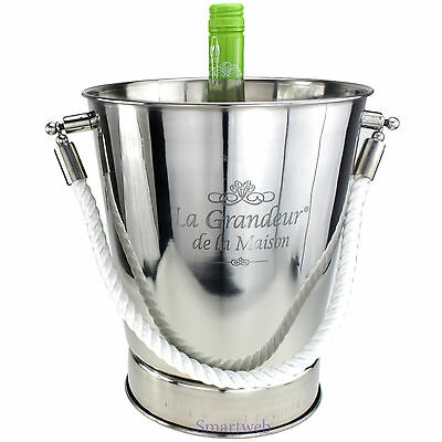 Champagne Cooler Bucket Wine Bottle champagnerschal Stainless Steel