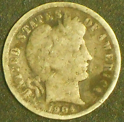 1904-P Silver Barber Dime. Free Shipping!!!!!!!!!!!!!!!!!!!