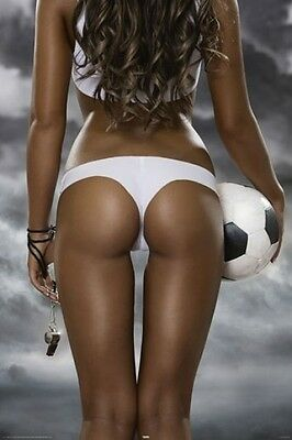 Football Girls Pinup Poster (61X91Cm) Soccer Bum Picture Print New