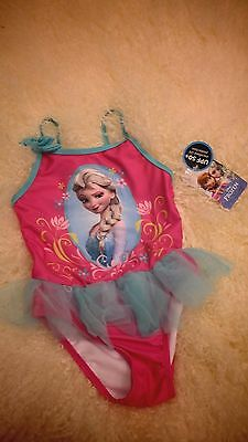 Disney Frozen Baby Toddler Girl Skirted One-Piece Character Swimsuit Size 2T