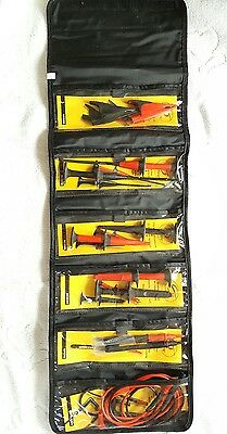 Fluke TLK-225 SureGrip Master Accessory Set. Leads & Probes in Roll-up Pouch