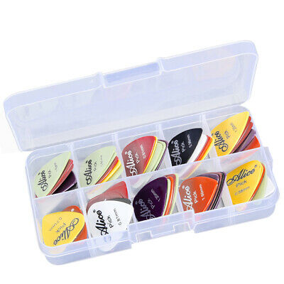 Box of 0.58/0.71/0.81/0.96/1.20/1.50mm Thickness Alice Guitar Picks Plectrums