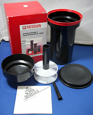 Paterson PTP116 Super System 4 Multi Reel 3 Film Developing Tank +Reel IN BOX