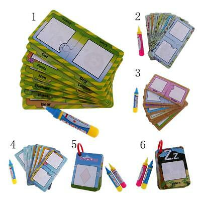 Kids Educational Magic Doodle Water Drawing Cards + Pen Kids Early Learning Toy