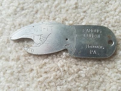 Vintage Hanover Pa Famous  Lunch Bottle Opener