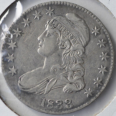 1833 50C Capped Bust Half Dollar Type Coin Circulated Extremely Fine XF EF