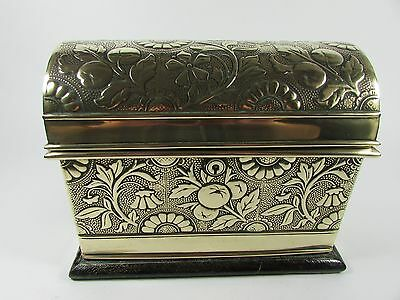 Dome Topped Embossed Brass Casket by Austin of Dublin c.1879