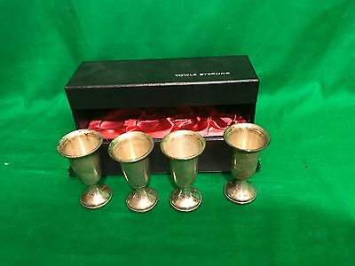 Cordial Cup 4 Sterling Silver Cups by Towle 925 Aperitif Set