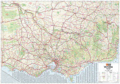 VICTORIA STATE MAP POSTER (70x100cm) LARGE ROAD GUIDE TRAVEL PICTURE