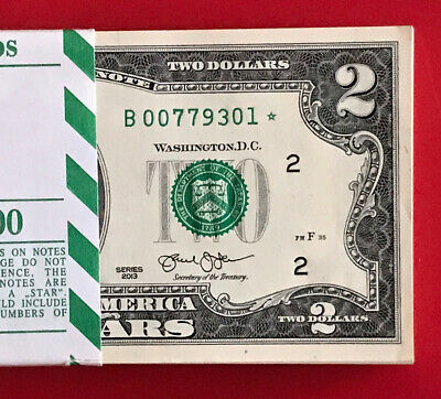 1x Crisp New Sequential Uncirculated 2013 Five Dollar * STAR Note $5