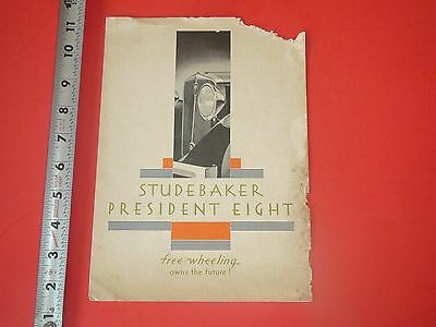 JD535 Vintage Fold-Out Automobile Ad Studebaker President Eight