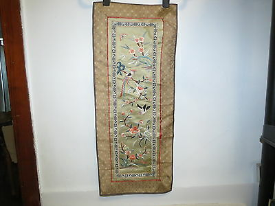 * Vintage Chinese Embroidered Silk Textile *
