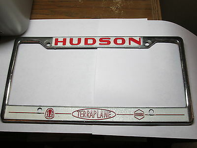 Hudson Terraplane & Essex Raised Lettering License Plate Frame