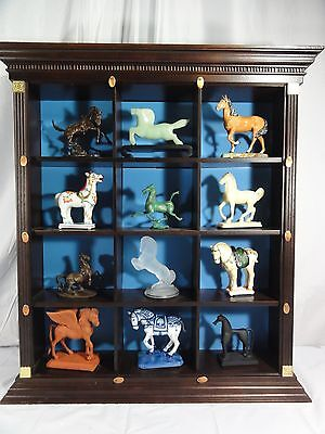 Franklin Mint 12 Piece Tang Dynasty Horse Set w/ Display Lot