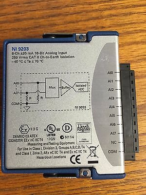 National Instruments NI 9203 ±20 mA, Current Analog Input, 200 kS/s, 8 Ch Module