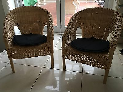 Pair of Children's Cane Chairs