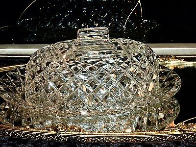 Wonderful Vintage Hand Cut Crystal Lidded Butter / Cheese Dish Grimwade C1950's