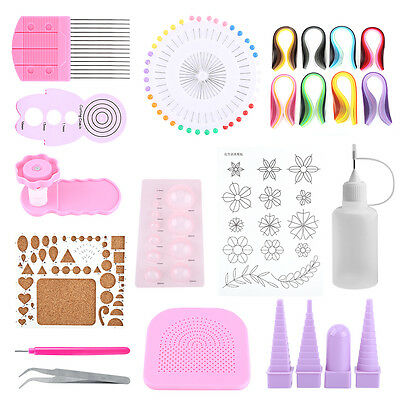14pcs Paper Quilling Board Mould Crimper Comb Tools Set DIY Craft Kit