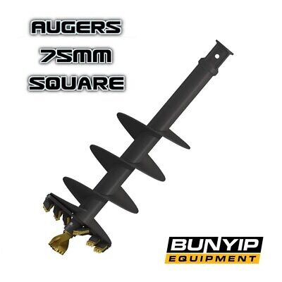 Augers - 75Mm Square Hub- Auger Torque - Excavators For Earthdrill & Auger Drive
