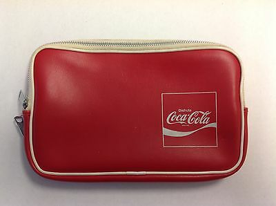 Vintage Coca Cola Dual Zipper Carrying Pouch - Mexico
