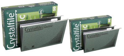 "Crystalfile Suspension File Foolscap Classic Complete - 2 X 50 Pack  ""Bulk Buy"""