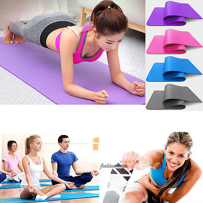 10mm Durable Yoga Mat Non-slip Thick Exercise Pad Health Lose Weight Fitness