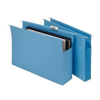 Marbig Suspension File Expanding Gusset 20 Pack - Blue