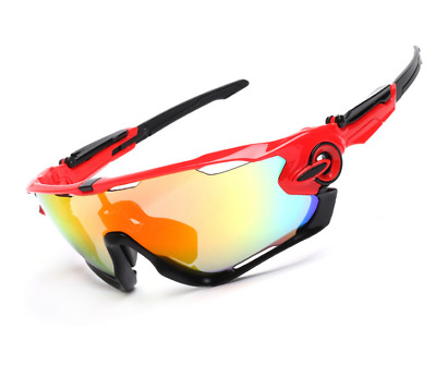 Cycling Outdoor Sports Riding Bicycle Fishing SunGlasses Eyewear 5 Lens Goggles