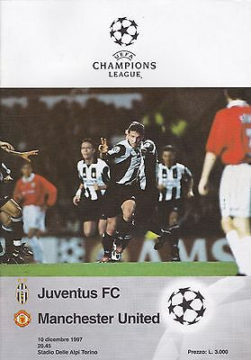 JUVENTUS  v MANCHESTER UNITED ~ CHAMPIONS LEAGUE ~ 10 DECEMBER 1997