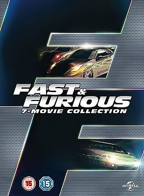 FAST AND FURIOUS 1-7 * DVD Box Set Region 2 UK * Brand New & Sealed * Free Post