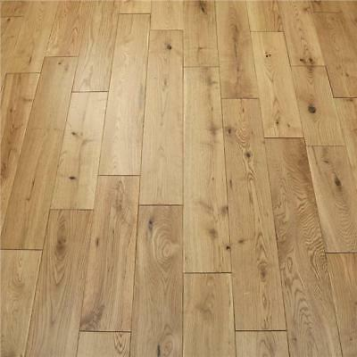 Solid Oak Wood Flooring - Natural Lacquered - 18mm x 125mm - VALUE FOR MONEY