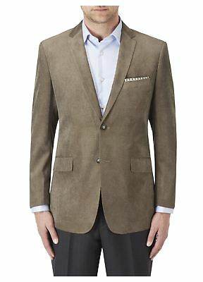 SKOPES Extra Tall Length Soft Touch Tailored Sports Jacket inCoffee color