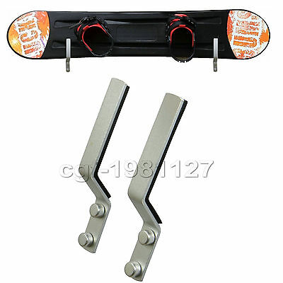 1 Pairs Snowboard Wall Storage Rack Wall Mount Wall Display Rack -Aluminum