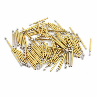 uxcell 100pcs P75-LM3 1.0mm Dia 16.8mm Length Metal Spring Pressure Test Probe Needle