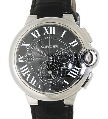 Cartier BALLON BLEU CHRONO 3109 STEEL, LEATHER W6920052 3109