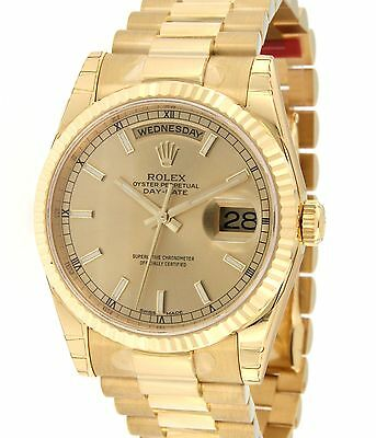 Rolex DAY DATE 118238 IN YELLOW GOLD, 36MM 118238