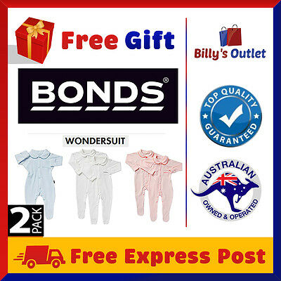 2 Pack Bonds Baby Wondersuit One piece Romper Jumpsuit Bodysuit Girls Boys