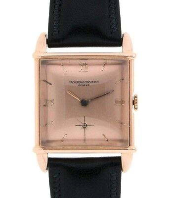 Vacheron & Constantin VINTAGE SQUARE RED GOLD LEATHER, 28x38MM 1234