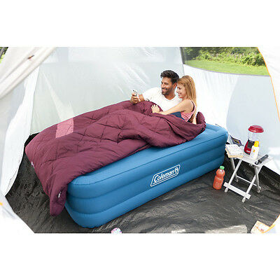 Coleman Extra Durable Raised Double Airbed Guest Bed Festival