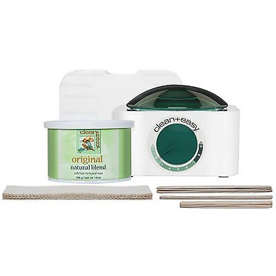 Clean and Easy Professional Pot Wax Mini Kit with Original Soft Hair Removal Wax