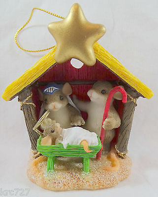 Charming Tails Christmas Ornament The Greatest Gift of All Nativity