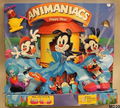 Animaniacs McDonald's 1995 Happy Meal Store Display with Toys (MD-39)