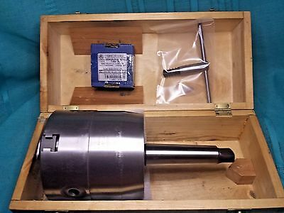 """BISON 7-860-0500 5"""" 3-Jaw Self-Centering Rotating Chuck with 4MT Shank New Other"""