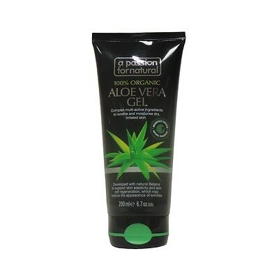 Aloe Vera 100% Organic GEL 200ml by Passion For Natural-Instant Soothing