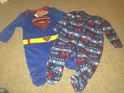 2 baby boy sleepsuits. 1 is BNWT. 0-3 months.