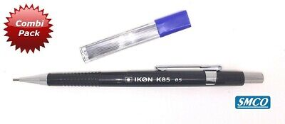 1x SMCO Mechanical Propelling Pencil 0.5mm Black Barrel IKON K85 + 12 HB Leads