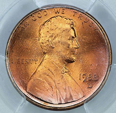 1988-D PCGS MS68RD Lincoln Cent