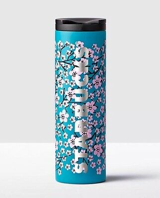 Starbucks Cherry Blossom Blue 2017 Stainless Steel Tumbler Limited Ed Sold Out